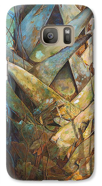 Galaxy Case featuring the painting Lizards And Boots by AnnaJo Vahle