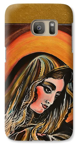 Galaxy Case featuring the painting lLady of sorrows by Sandro Ramani