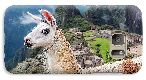 Llama At Machu Picchu Galaxy S7 Case by Jess Kraft