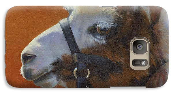 Galaxy Case featuring the painting Llama Love by Alecia Underhill