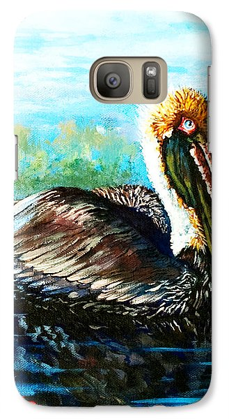 Galaxy Case featuring the painting L'observateur by Dianne Parks