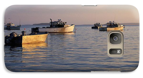 Galaxy Case featuring the photograph Lobster Boats Off Harpswell Maine by Colleen Williams