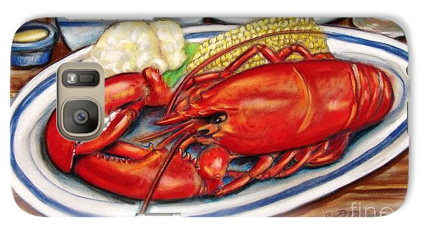 Galaxy Case featuring the pastel Lobster Dinner by Patricia L Davidson