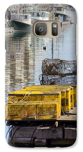 Galaxy Case featuring the photograph Lobster Traps by Dick Botkin
