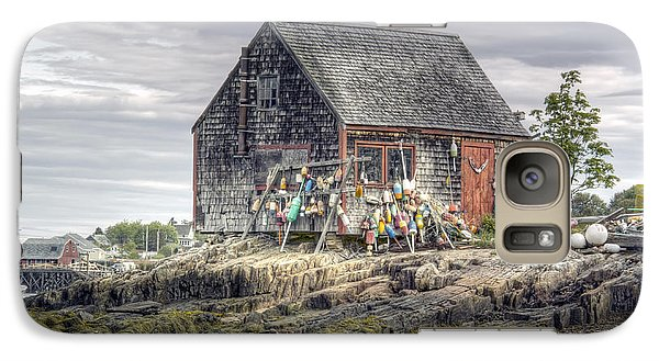 Galaxy Case featuring the photograph Lobsterman's Shack Of Mackerel Cove by Richard Bean