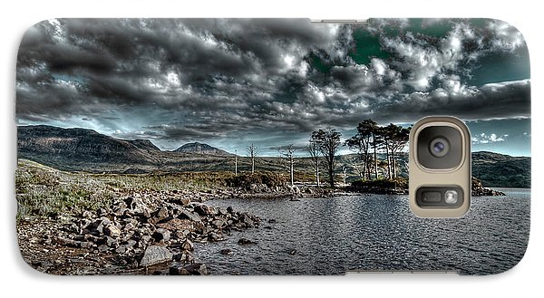 Galaxy Case featuring the photograph Loch In The Scottish Highland by Gabor Pozsgai
