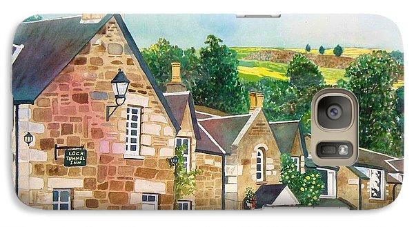 Galaxy Case featuring the painting Loch Tummel Innn - Scotland by LeAnne Sowa