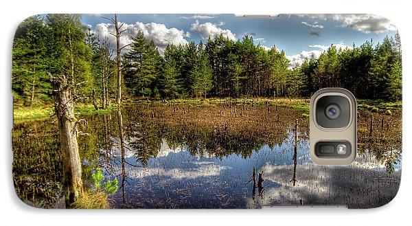 Galaxy Case featuring the photograph Lochan Close To Loch Garten by Gabor Pozsgai