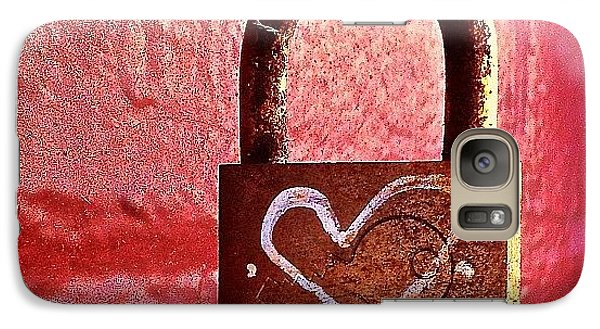 Lock/heart Galaxy Case by Julie Gebhardt