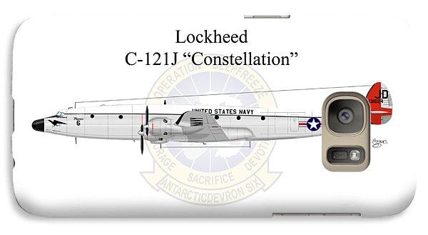Galaxy Case featuring the digital art Lockheed C-121j Constellation by Arthur Eggers
