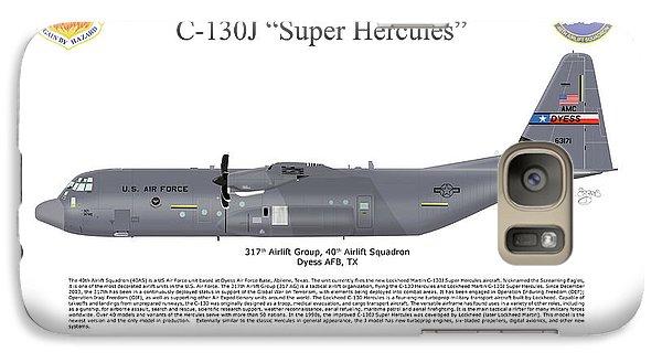 Galaxy Case featuring the digital art Lockheed Martin C-130j-30 Super Hercules by Arthur Eggers