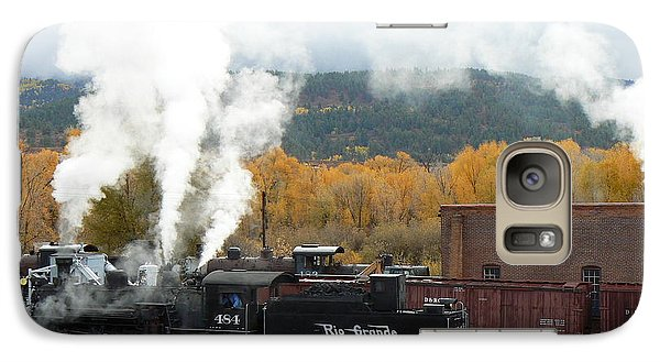 Galaxy Case featuring the photograph Locomotive At Chama by Scott Rackers