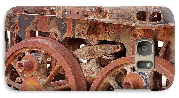 Galaxy Case featuring the photograph Locomotive In The Desert by Aidan Moran