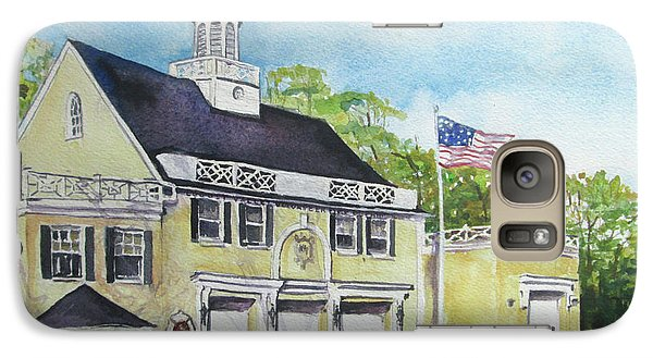 Galaxy Case featuring the painting Locust Valley Firehouse by Susan Herbst