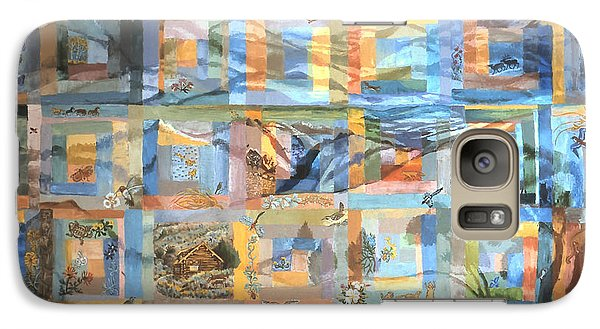 Galaxy Case featuring the painting Log Cabin Quilt by Dawn Senior-Trask