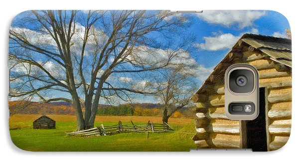 Galaxy Case featuring the photograph Log Cabin Valley Forge Pa by David Zanzinger