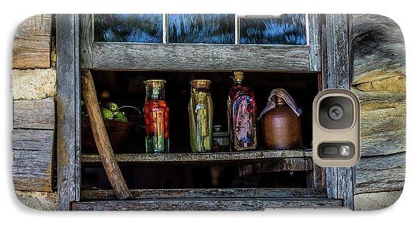 Galaxy Case featuring the photograph Log Cabin Window by Paul Freidlund