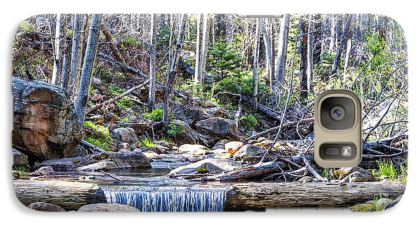 Galaxy Case featuring the photograph Log Falls by Anthony Citro