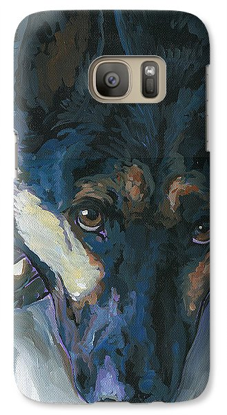 Galaxy Case featuring the painting Logan by Nadi Spencer