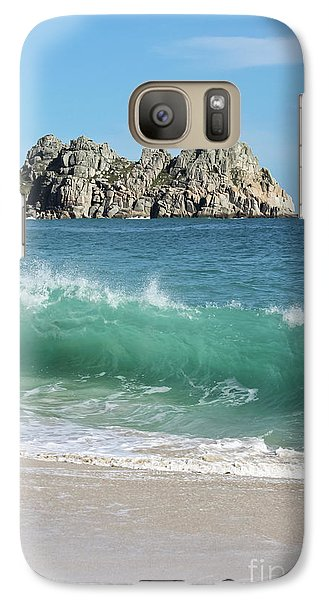 Galaxy Case featuring the photograph Logan Rock Porthcurno Cornwall by Terri Waters