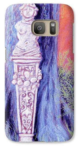 Galaxy Case featuring the pastel Lola Lady Of Stone by Jan Amiss