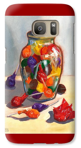 Galaxy Case featuring the painting Lollipops by Susan Thomas