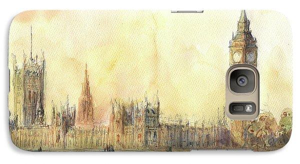 London Big Ben And Thames River Galaxy Case by Juan Bosco