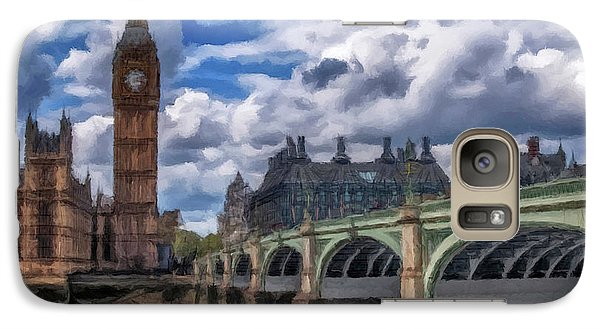 Galaxy Case featuring the painting London Big Ben by David Dehner