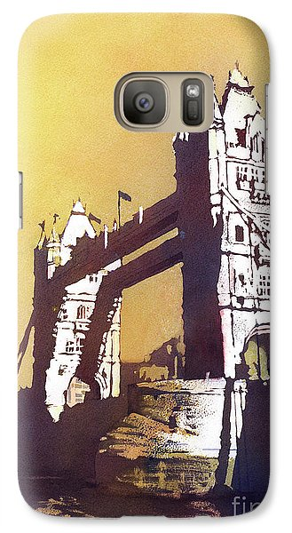 Galaxy Case featuring the painting London Bridge- Uk by Ryan Fox