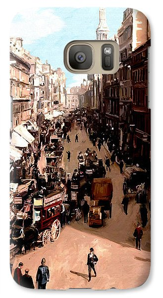 Galaxy Case featuring the painting London Cheapside by James Shepherd