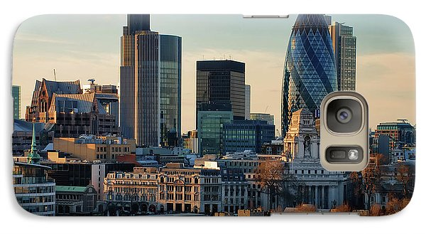 Galaxy Case featuring the photograph London City Of Contrasts by Lois Bryan