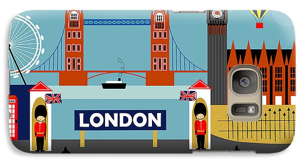 London Galaxy S7 Case - London England Horizontal Scene - Collage by Karen Young