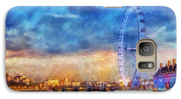 Galaxy Case featuring the photograph London Eye by Ian Mitchell