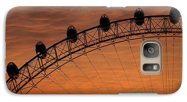 London Eye Sunset Galaxy Case by Martin Newman