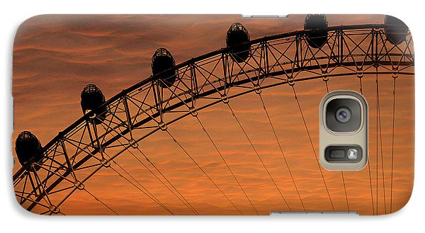 London Eye Galaxy S7 Case - London Eye Sunset by Martin Newman