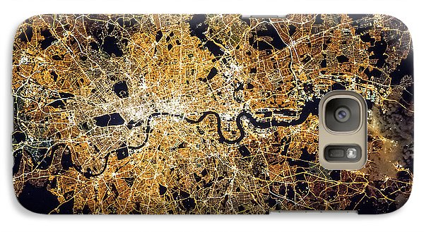 Galaxy Case featuring the photograph London From Space by Delphimages Photo Creations