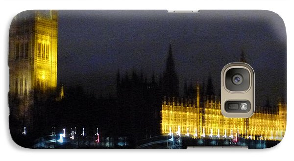 Galaxy Case featuring the photograph London Late Night by Christin Brodie