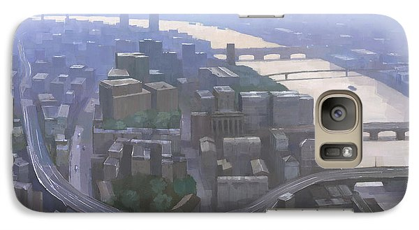 London, Looking West From The Shard Galaxy S7 Case by Steve Mitchell