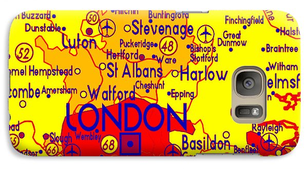Galaxy Case featuring the drawing London Map Mock-up by Digital Art Cafe