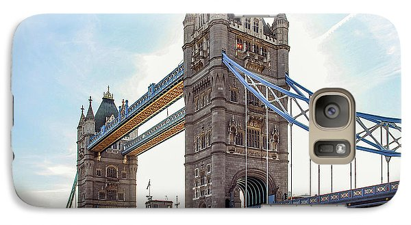 Galaxy Case featuring the photograph London - The Majestic Tower Bridge by Hannes Cmarits