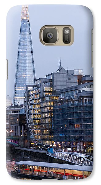 Galaxy Case featuring the photograph London's Shard by David Isaacson