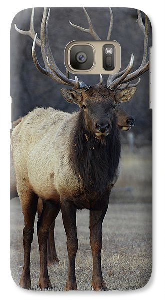 Galaxy Case featuring the photograph Lone Bull by Billie Colson