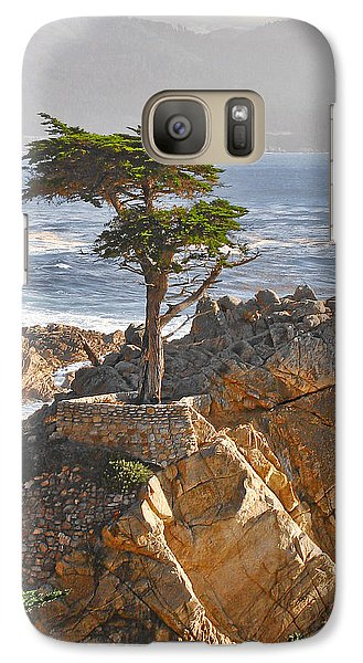 Landscapes Galaxy S7 Case - Lone Cypress - The Icon Of Pebble Beach California by Christine Till