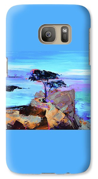 Galaxy Case featuring the painting Lone Cypress by Elise Palmigiani