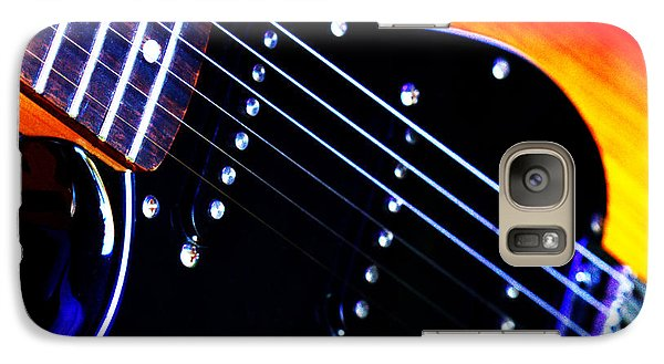 Galaxy Case featuring the photograph Lone Guitar by Baggieoldboy