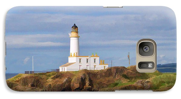 Galaxy Case featuring the photograph Lone Lighthouse In Scotland by Roberta Byram