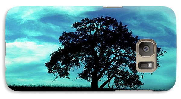 Galaxy Case featuring the photograph Lone Oak by Jim and Emily Bush