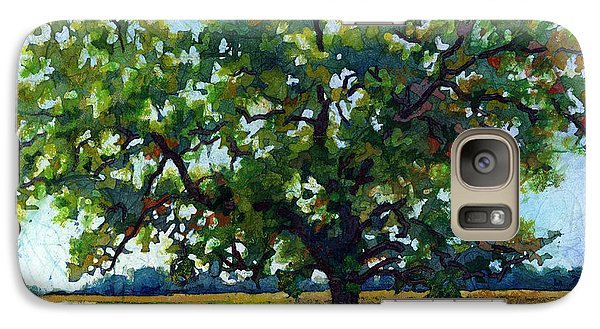 Galaxy Case featuring the painting Lone Oak by Hailey E Herrera