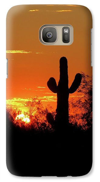 Lone Saguaro Sunrise Galaxy S7 Case