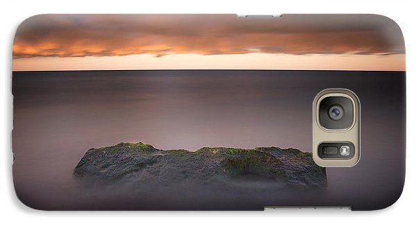 Galaxy Case featuring the photograph Lone Stone At Sunrise by Adam Romanowicz